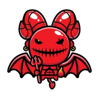 Desenho vetorial de demônio voador
