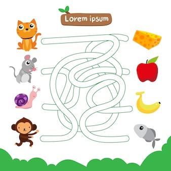 Desenho vetorial de labirinto