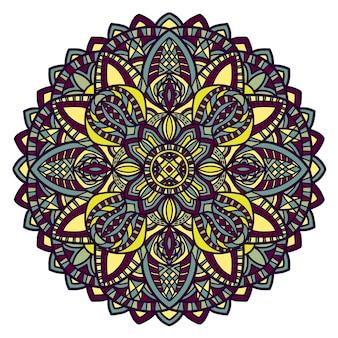 Desenho vetorial de mandala para impressão. ornamento tribal.