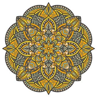 Desenho vetorial de mandala para impressão. ornamento tribal