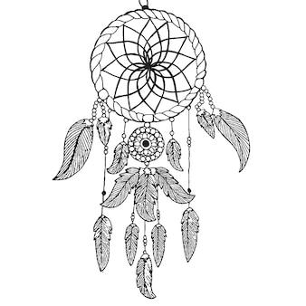 Desenho vetorial de mão desenhada preto e branco