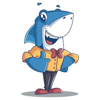 Desenho vetorial de tubarão