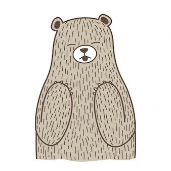 Desenho vetorial de urso