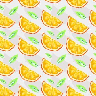 Desenho vetorial laranja padrão sem emenda