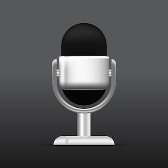 Desenho vetorial realista de microfone design de microfone de podcast