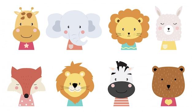Desenhos animados animais bebê fofo
