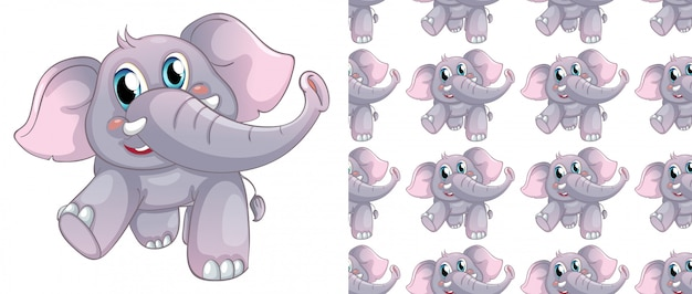 Desenhos animados animais padrão sem emenda e isolado