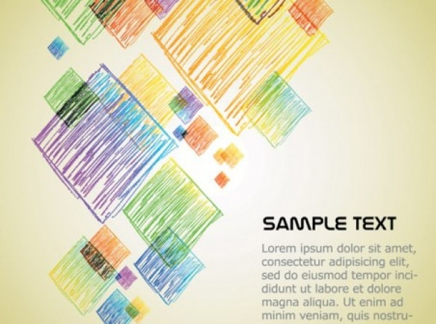 Desenhos animados bonitos crayons texto background vector set