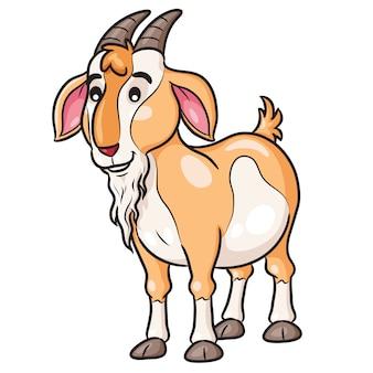 Desenhos animados bonitos da cabra