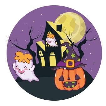 Desenhos animados bonitos de halloween