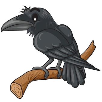 Desenhos animados bonitos do corvo