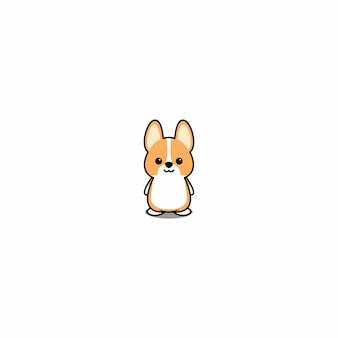Desenhos animados bonitos do filhote de cachorro do corgi de galês