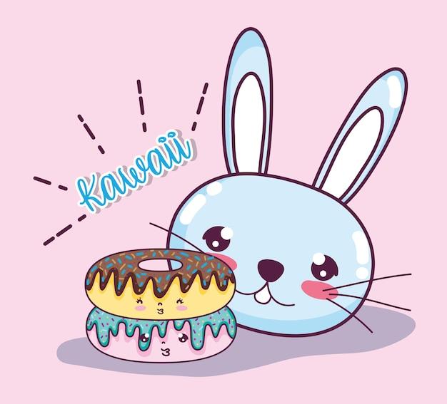 Desenhos animados bonitos do kawaii