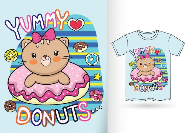 Desenhos animados bonitos do piloto de dino para a camisa de t