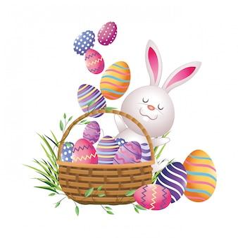 Desenhos animados bonitos dos ovos de easter
