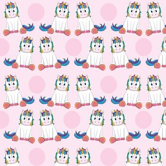 Desenhos animados bonitos unicórnios padrão de fundo vector design gráfico ilustração