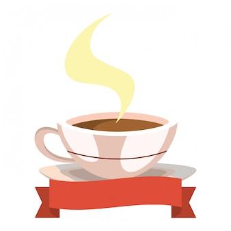 Desenhos animados caneca de café