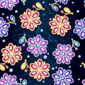 Desenhos animados coloridos brilhantes broches padrão sem emenda