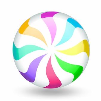 Desenhos animados coloridos engraçados do pirulito dos doces.