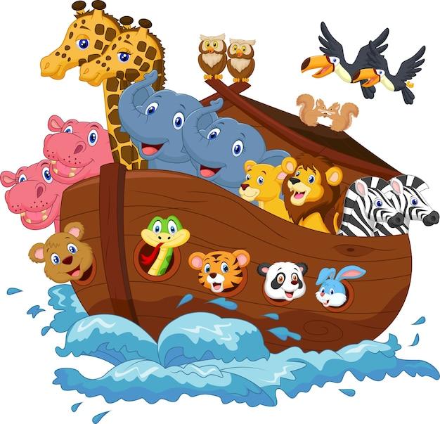 Desenhos animados da arca de noé