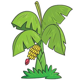 Desenhos animados da árvore de banana
