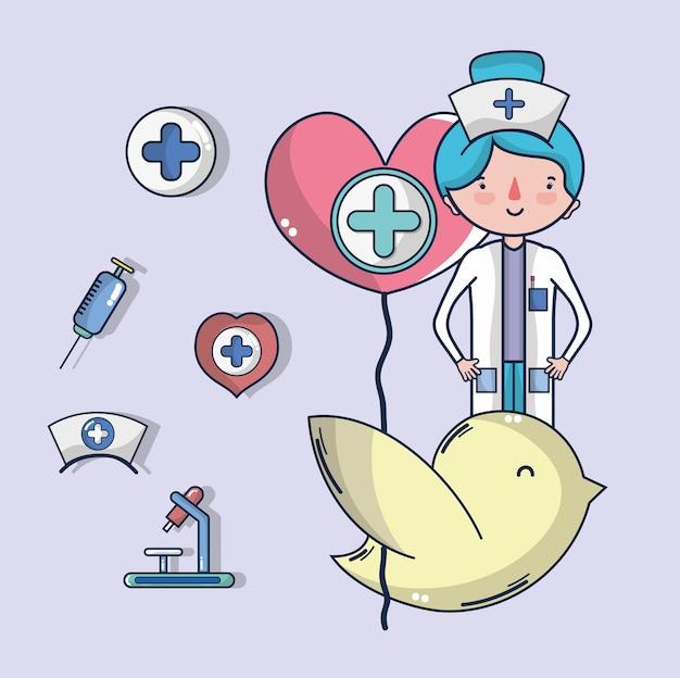Desenhos animados da campanha de doação de sangue