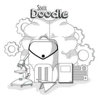 Desenhos animados da escola doddles