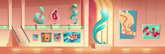 Desenhos animados da exposição de arte contemporânea