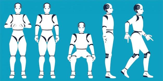 Desenhos animados da inteligência artificial