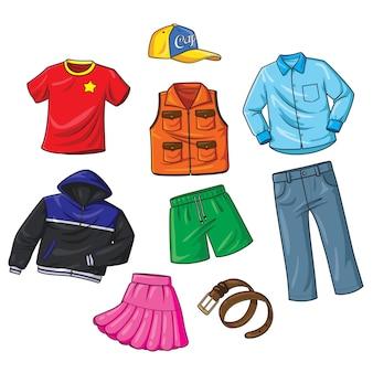 Desenhos animados da roupa