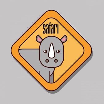 Desenhos animados de animais de safári