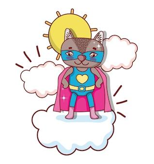 Desenhos animados de animais de super-heróis