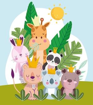 Desenhos animados de animais fofos