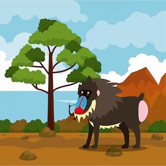 Desenhos animados de animais selvagens da africa