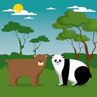 Desenhos animados de animais selvagens