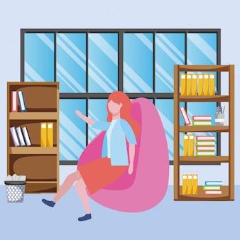 Desenhos animados de avatar de mulher de negócios