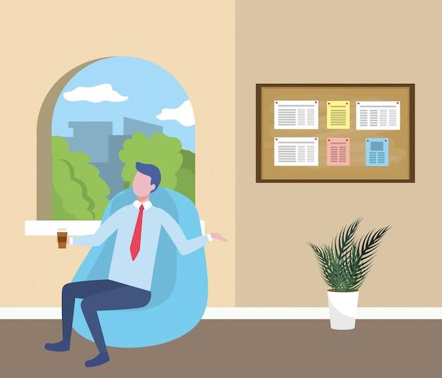 Desenhos animados de avatar do empresário