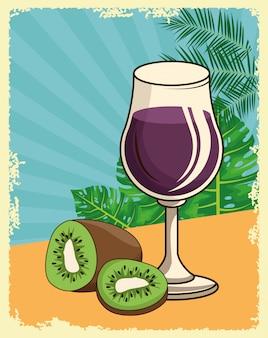 Desenhos animados de bebida de bebida alcoólica