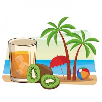 Desenhos animados de bebida refrescante