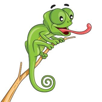 Desenhos animados de camaleão