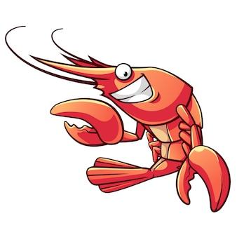 Desenhos animados de camarão