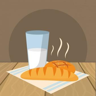 Desenhos animados de comida deliciosa café da manhã