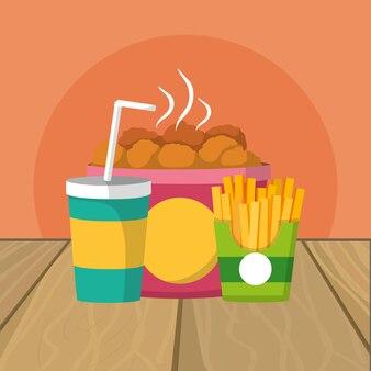 Desenhos animados de comida deliciosa