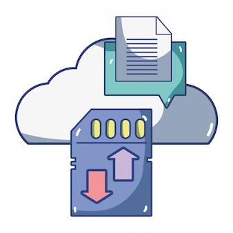 Desenhos animados de computação de tecnologia