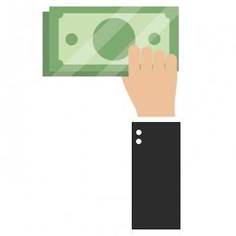Desenhos animados de contas de dinheiro