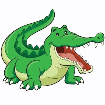 Desenhos animados de crocodilo