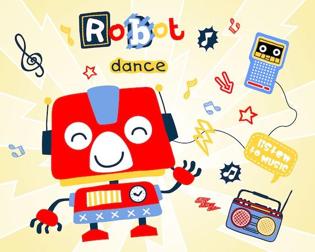 Desenhos animados de dança do robô
