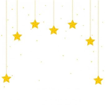 Desenhos animados de decoração de estrelas do espaço