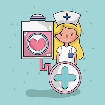 Desenhos animados de doação de sangue