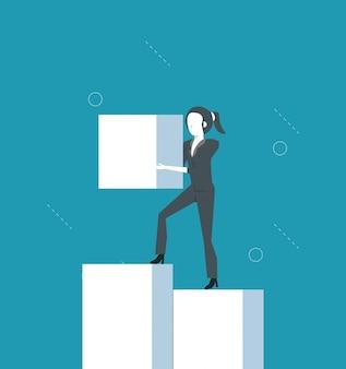 Desenhos animados de empresária de trabalhador